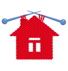 The house knitted vector image