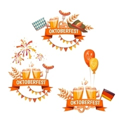 Banners for oktoberfest celebration beer and vector