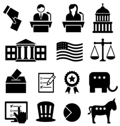 Election and voting icons vector image