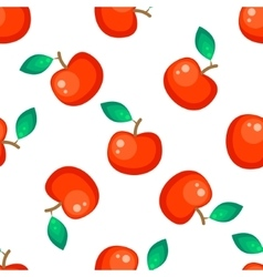 Red apple fruit seamless pattern vector