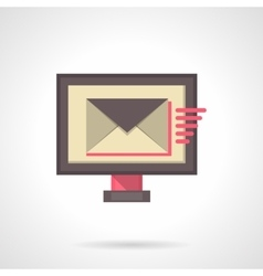 Sending mail flat color icon vector