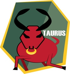 Taurus horoscope vector