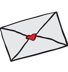 Freehand drawn cartoon love letter vector