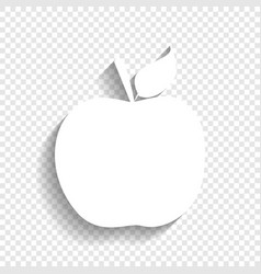 Apple sign white icon with vector