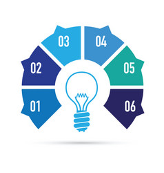 blue light bulb idea vector image vector image