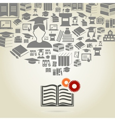 Book5 vector image vector image