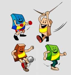box mascot vector image vector image