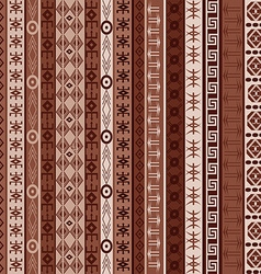 Brown carpet with african elements vector image vector image
