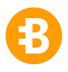 bytecoin icon for internet money crypto currency vector image vector image
