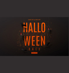 Dark web banner for halloween sale vector