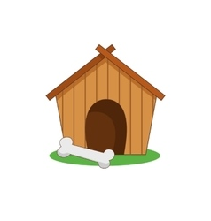 Dog house kennel vector
