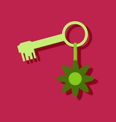 Flat icon design collection key and key fob in vector