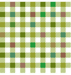 Green gingham mix seamless pattern vector
