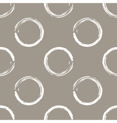 Grunge white circles on white coffee background vector