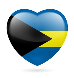 Heart icon of bahamas vector