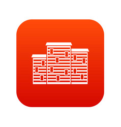 Houses icon digital red vector