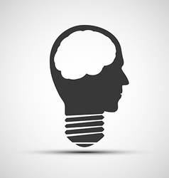 icons bulb of a human head vector image vector image