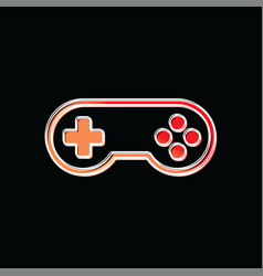 Joystick game brand company template logo vector