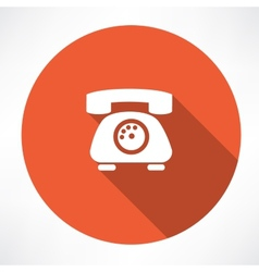 landline phone icon vector image