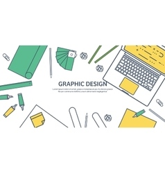 Lined ouline flat graphic web design Drawing and vector image