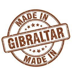 made in gibraltar brown grunge round stamp vector image vector image