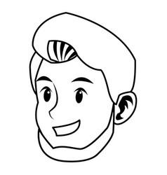 Man character face avatar style portrait vector