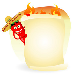 mexican food restaurant spice banner vector image vector image