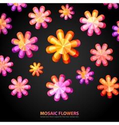 Modern Floral shape vector image vector image