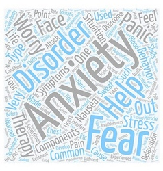 Overcome your anxiety text background wordcloud vector