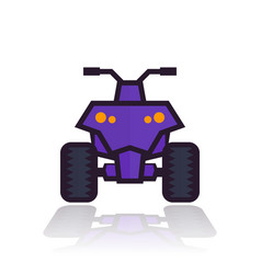 quad bike icon vector image vector image