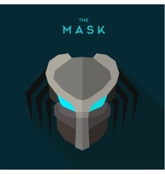 Robot mask with blue eyes anti-hero an evil alien vector
