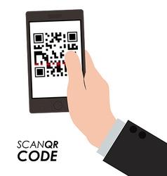 Scan qr code design vector