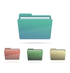 Set of Folders with papers vector image