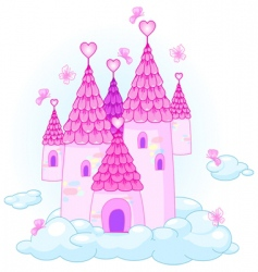 sky castle vector image vector image