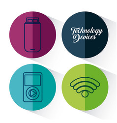 Technology devices design vector