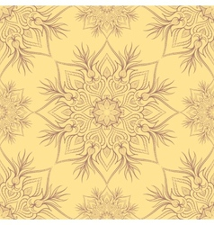 Vintage pattern with linear ornament vector image