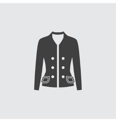 Woman jacket icon vector image vector image