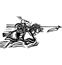 Jousting Knight Left vector image