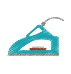 Drawing steam iron household vector