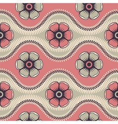 Fashion pattern with abstract flowers vector image