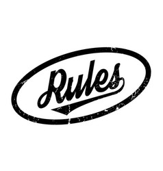 rules rubber stamp vector image