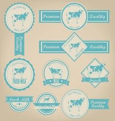 Fresh milk label design vector