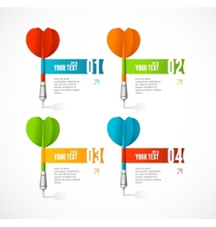 Colorful dart arrow like options banner vector