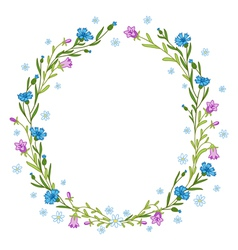 Floral wreath composition vector