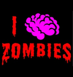 I love zombies vector image