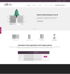 Flat design of the site to start up vector