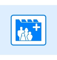 Medical record icon with family vector