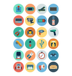 Electronics flat icons 5 vector