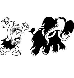 Mammoth hunt vector image