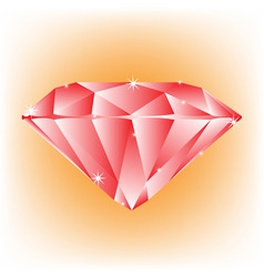 Red jewel vector